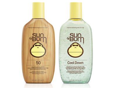 Sun bum Combo 237ML Aloe Vera Gel & SPF 50+ Sunscreen Pack 4 HR Water Resistant