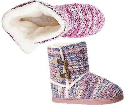 GROSBY Invisible Knit Womens Pink Purple Slippers Shoes Boots + Bonus Socks