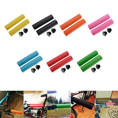1Pair Mountain Road Bicycle Bike Silicone Antiskid Handlebar grips for 20-22.2mm