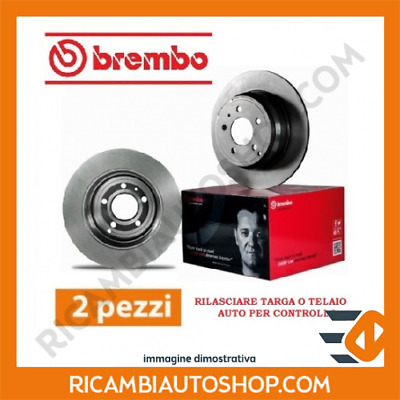 2 Dischi Freno Anteriore Brembo Smart City-Coupe (450) 0.8 Cdi Kw:30 1999>2004 0