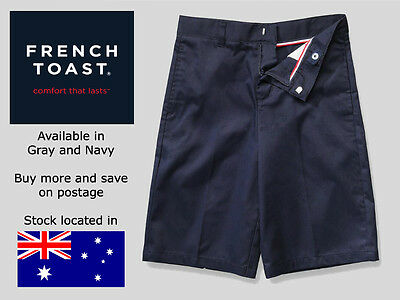 Brand New School Shorts - French Toast - Flat Front Adjustable Waist Shorts
