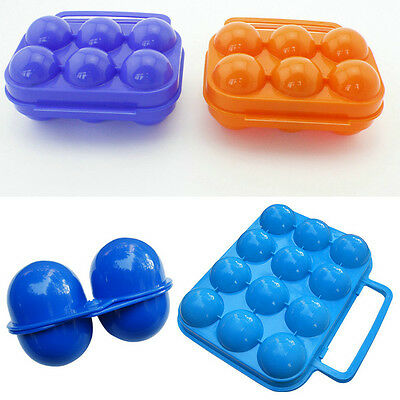 2/6/12 Count Egg Storage Container Safe Outdoor Camping Food Egg Holder