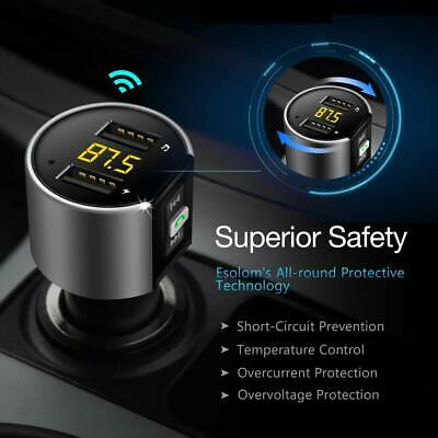 Bluetooth Wireless Handsfree Car FM Transmitter MP3 Player Dual USB Charger Kit