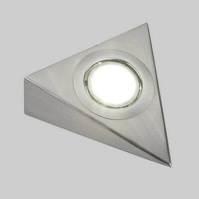 Led Kitchen Under Cabinet Cupboard Triangle Round Light Kit Cool Warm White Led