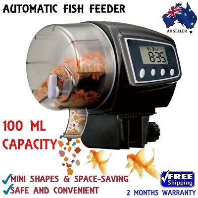 New LCD Automatic Fish Food Feeder Timer Tank Pet Digital Aquarium Pond Holiday