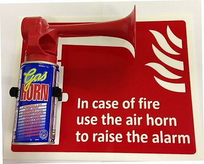 In Case Of Fire Use This Air Horn To Raise The Alarm  250Mm X 250Mm