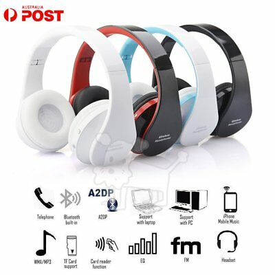 Wireless Bluetooth Headset Foldable Sport Headphone for IPHONE SAMSUNG LOT AU