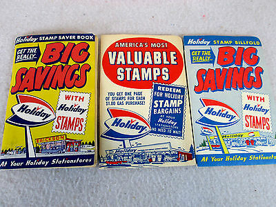 Vintage 1960s Holiday Gas Station Stores lot of 3 saver stamp booklets
