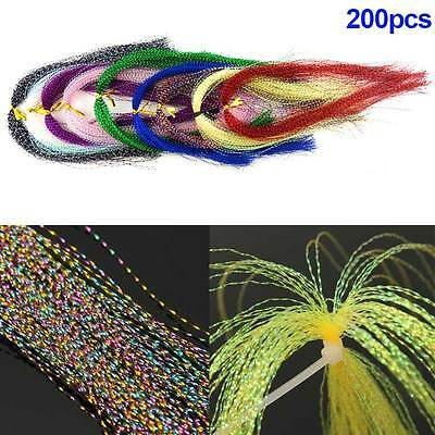 200pcs Jig Hook Fly Tying Material Feather Line Fishing Artificial Bait Line