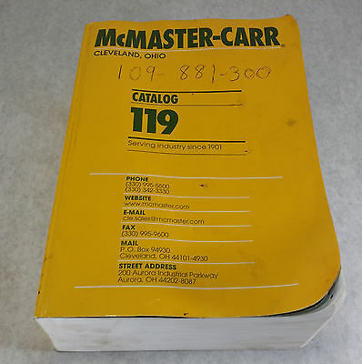 McMaster-Carr 119 Cleveland Ohio Industrial Supply Catalog Used Good Condition