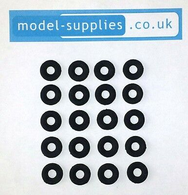 Corgi Mini 12mm O/D Black Reproduction Rubber Tyres fits Marcos Imp Mini post 67