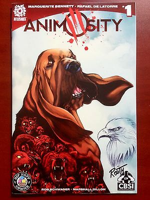 Animosity #1 Cbsi Variant ~ Nm+ (9.6) ~ Signed & Sketched Rooth ~ Limited To 200
