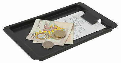 Tip Tray With Clip Black Plastic Tray Plain Restaurant Catering Bill Bar Hotel