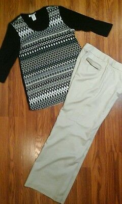 Women's 2pc outfit size shirt, lined pants size 12