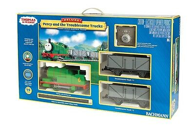Bachmann 90069 Percy and the Troublesome Trucks Deluxe Electric Train G Scale