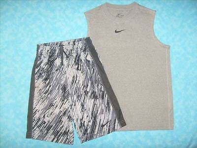Boy's NIKE 2 Piece Short Outfit - Shorts Size S & Top Size M - Excellent Cond!