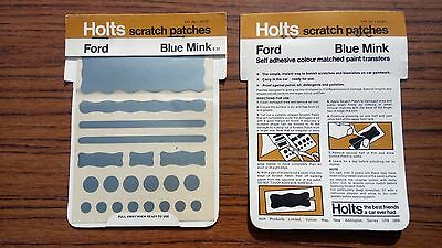 Ford Blue Mink Holts Scratch Patches