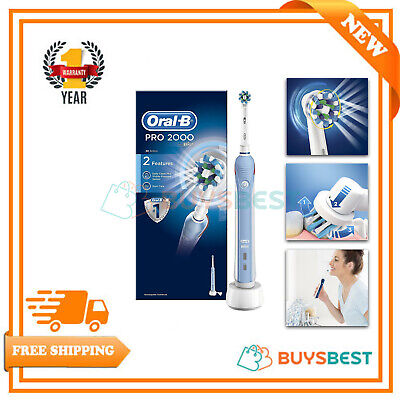 Braun Oral-B CrossAction 3D Clean Electric Rechargeable Power Toothbrush PRO2000