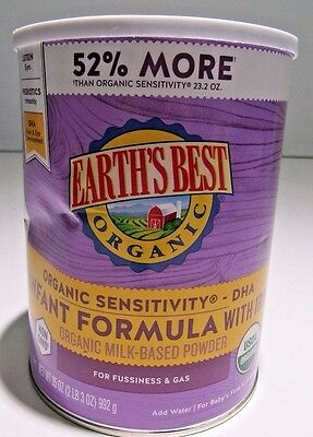 Earth's Best Organic Sensitivity Infant Formula w/DHA & ARA 35 oz