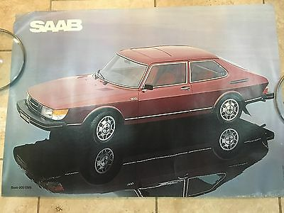 """1979/80 Saab 900 EMS Dealer Poster 39x27"""" on heavy poster stock"""