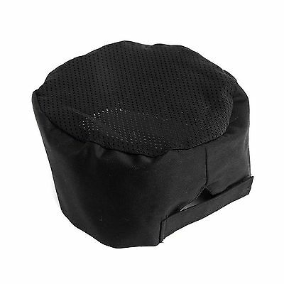 Adjustable Black Breathable Mesh Top Professional Chefs Hat Catering Skull Cap