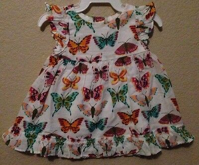 NWT Gymboree Baby Girls size 0-3 months Woodside Walk Butterfly Print Dress