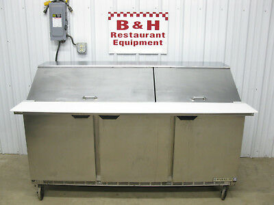 "Beverage Air 72"" Three 3 Door 6' Refrigerated Sandwich Prep Table SPE72-30M"
