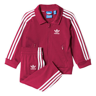 Adidas Originals Firebird Infant Track Suit Pink/White ay2778