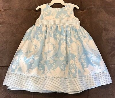 Euc Cherokee Girls Size 18 Months Blue And White Dress Easter
