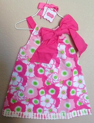 Nwt Mud Pie Baby Girls Size 12-18 Months Lilly Pad Dress Easter