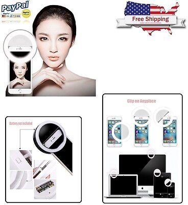 Selfie LED Ring Fill Light Camera Photography For iPhone 7 Plus Android iOS NEW