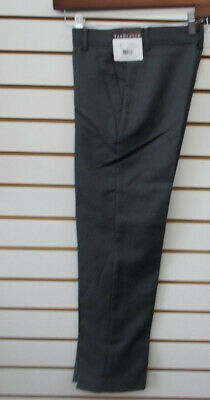 Boys Van Heusen $32 Charcoal Heather or Black Flat Front Dress Pants Size 8 - 12