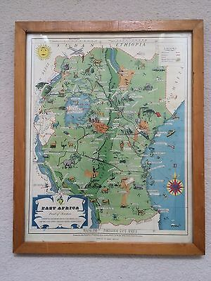 1954 Map Of East Africa
