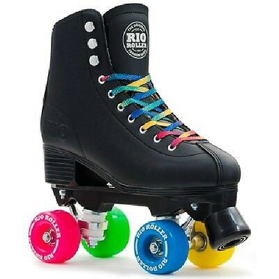 Sfr Rio Roller Skate - Figure Quad Skates Black - Girls Womens Boys Mens Quads