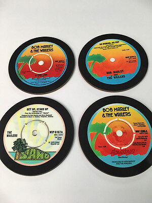 Bob Marley and The The Wailers Singles Collection 45 Great Drinks COASTER Set