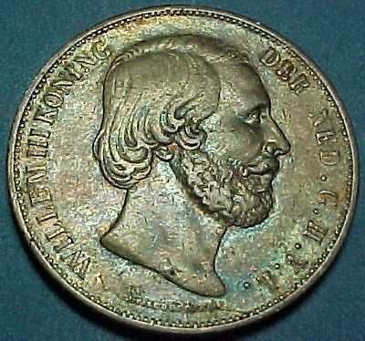 Netherlands - 1868 - 2 1/2 Gulden - Large Silver Coin - 38mm
