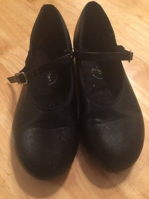 Revolution Black Tap Shoes Girl's/adult Size 3.5 M Euc