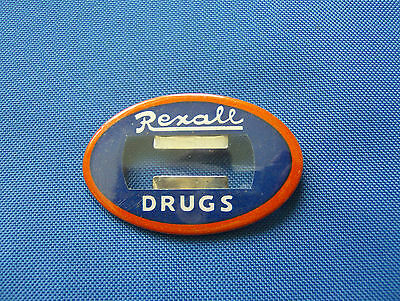 Vintage Rexall Drug Store Pin Back Name Badge