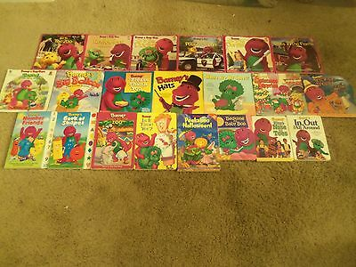 Vintage Lot of 21 BARNEY The Purple Dinosaur Children's Picture & Board Books