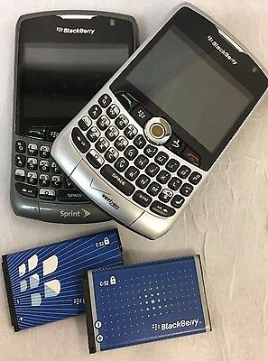 LOT OF 2 BlackBerry Curve 8330 - Silver & Gray Smartphone *USED*