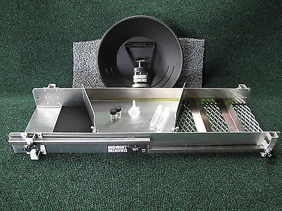"30"" Sluice Box With  Adjustable Legs Miners Moss Carpet Extras"