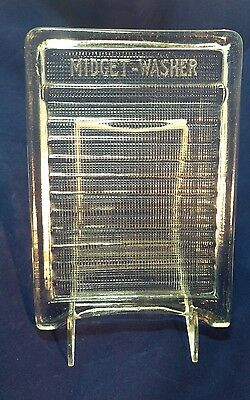 Antique-Vintage MIDGET-WASHER Clear Glass WASHBOARD