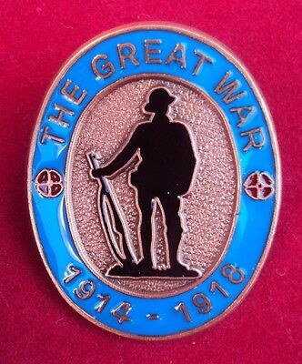 Ww1 1914-1918 The Great War Badge With Enamel Detailing