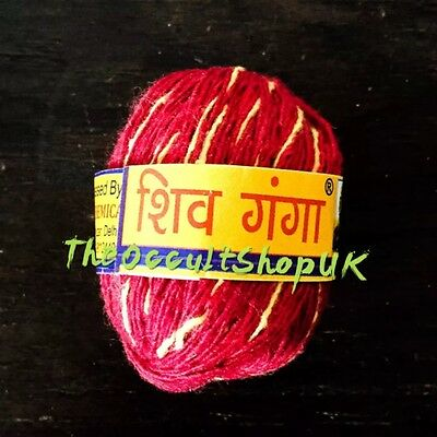 Sacred Red Thread Mauli Kalawa Karma String Puja Ritual Wicca Talisman Witch Hex
