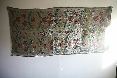 Antique Stenciled Silk Velvet Yardage,probably Fortuny, Baroque, Italy