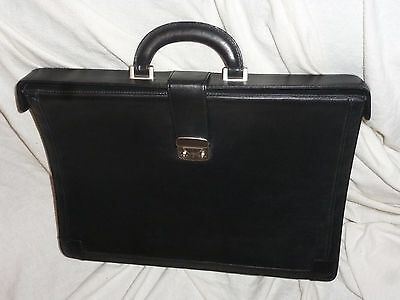 TUMI Black Leather Expandable Briefcase Laptop Shoulder Bag Discontinued ??