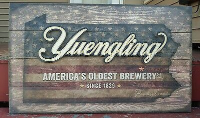 Yuengling Beer Americas Oldest Brewery Since 1829 Pottsville PA 38X23 Wood Sign