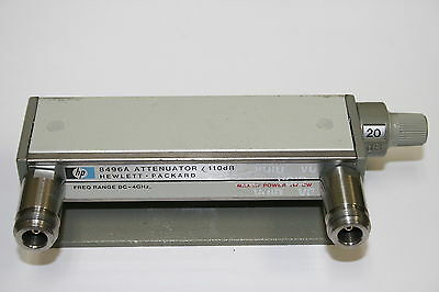 HP Hewlett Packard 8496A Option 001 DC- 4Ghz 110dB Attenuator