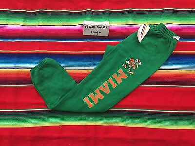 VTG Miami HURRACANES Tultex leg spell out logo sweatpants Youth L 90s NWT