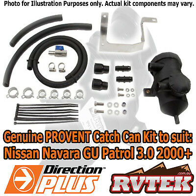 Genuine Provent Oil Catch Can Kit Fits Nissan Gu Patrol Zd30 2000+ Separator